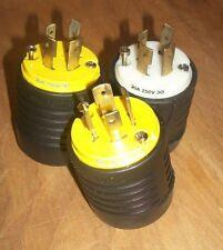 Lot of 3 Pass & Seymour 20A 250V 30 MALE Twist-Lock Plug