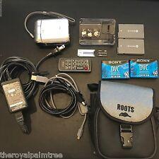 Sony DCR-PC55  MiniDV Handycam Camcorder w/ Many Accessories (Silver)