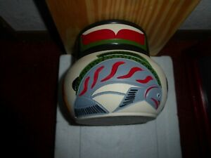 Northwest Coast Salish Eagle-Salmon-Bear Pottery by Stewart Jacobs. Must see!