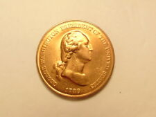 circa 1970s bronze medal of George Washington - Peace & Friendship on reverse