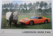 1967 Lamborghini Miura P400 Original Sales Brochure Bertone Gandini
