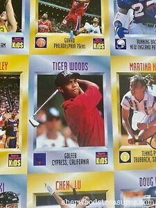 TIGER WOODS 1996 SI SPORTS ILLUSTRATED FOR KIDS FULL MAGAZINE WITH UNCUT SHEET