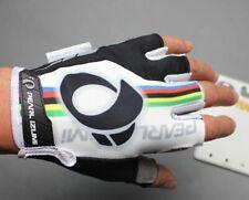 MTB Road Bike racing Half Finger Glove Short Fingerless Cycling Gloves White
