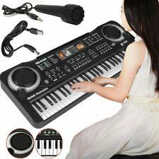Niños 61teclas Órgano musical electrónico con micrófono USB Piano Música Teclado