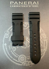 NEW OEM 24MM BLACK RUBBER STRAP FOR PANERAI WATCH ACCORDION