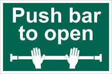 Echt DRAPER 'Push Bar To Open' Sicherheitszeichen 72454