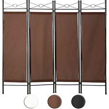 Biombos diseño 4panel tela divisor habitación separador separación biombo