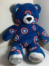 Build A Bear BABW Captain America Plush Stuffed Animal Avengers Exclusive Blue