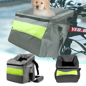 Pets Cat Dog Bicycle Basket Handlebar Pannier Cycling Holder Bike Riding Pouch