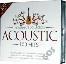 The Ultimate Acoustic 100 Hits 5 CD Tracks Original Recordings Pop Music Songs