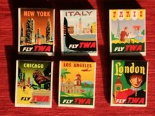 TWA Match Books Six Pack Air Freight  1950-1960's