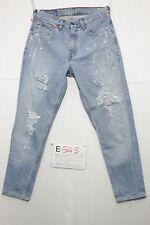 Levi's 521 Boyfriend Wild jabalí (Cod. E543) Tg45 W31 L34 jeans ACORTADO usado