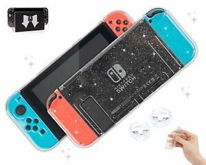 Glitter Clear Switch Case - Nintendo Switch Standard Shell - Dockable, Fits Skin