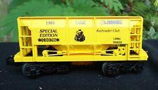 Lionel O Scale 6-16800 Railroad Club Hopper Special Edition In The Box