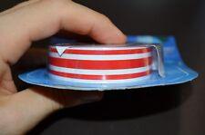 Stripes tripla striscia adesivo nastro rosso tuning moto auto caravan camper