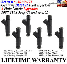 4.0L 1987-95 6 OEM UPGRADE Fuel Injectors Bosch 4 hole NEW $229.49, JEEP