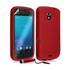 Case cover silicone case for samsung galaxy nexus red + mini sty