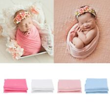 Newborn Baby Swaddle Blanket Soft Cotton Wrap Photo Photography Prop