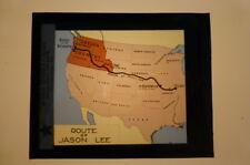 Magic Lantern Slide Indian Trail Route of Jason Lee M E Church