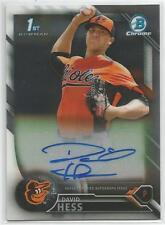 David Hess Baltimore Orioles 2016 Bowman Chrome Prospect Autograph