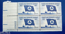 Sc # 1088 ~ Plate # Block ~ 3 cent Coast & Geodetic Survey Issue (bb1)