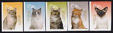 2015 Cats - Set of 5 Booklet Stamps