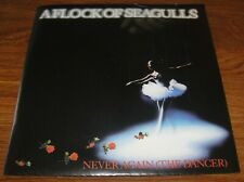 """A FLOCK OF SEAGULLS Never Again / Living in Heaven 7"""" Vinyl 45 w/poster sleeve"""