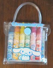 rare new Sanrio Cinnamoroll mini sketchbook and crayons in Pvc case 2007
