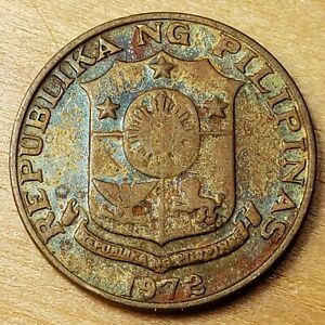 1972 Philippines 5 Sentimos, KM# 197, Nice Toning