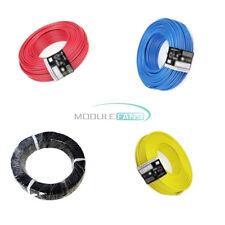 4 Color Rojo/Amarillo/Azul/Negro Flexible Trenzado de UL-1007 24 Awg Cable Cable 10M