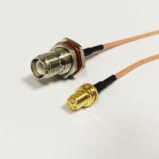 WIFI antenna cable RP SMA female to RP TNC female bulkhead adapter RG316 15cm