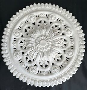 PR02 Pierced Ceiling Rose in Fibrous Plaster - 800mm - COLLECTION ONLY