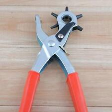Portable Red Hole 6 Sized Eyelet Hand Plier Punch Kit Belt Holes Punch Tool 8C