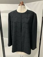 Eastex Black Beaded Front Jacket Blazer Size 20 Chic Smart Glam RRP£99