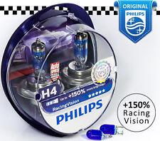 PHILIPS H4 Racing Vision +150% Halogen Car Headlight Bulbs 12V 55W W5W 12342RVS2
