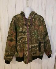 Liberty Outdoors Womens L Camo Full Zip Sweatshirt Cotton Blend Jacket