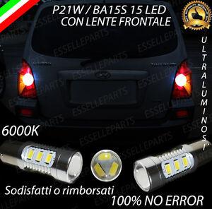 COPPIA LAMPADE RETROMARCIA 15 LED P21W CANBUS HYUNDAI TERRACAN NO ERROR