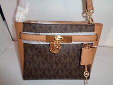 NWT MICHAEL KORS HALMILTON TRAVELER Brown/Acorn Messenger MD Shoulder Bag $348