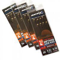 Fox Matrix Method Hair Rigs Gr. 18 Feeder gebundene Vorfächer Pellet carp bream