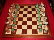 Studio Anne Carlton ~ Cottage Garden set di scacchi con la nuova tavola di legno