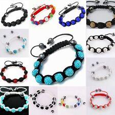 Wholesale Lots 13pcs Shamballa Crystal Ball Beads Bracelet Jewellery Gift