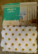 New Pillowfort Gold Dot Fabric Shower Curtain 72x72 inches