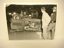 Vintage Car Wreck Photo NH Accident Scene 1960 Chevy's Overturned Fatal? PP047