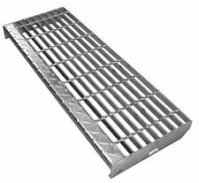 Galvanised Stair Tread Pre Fabricated  Fire Escapes Platforms Stringer 800x288mm