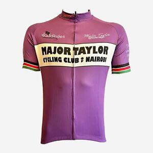 MAJOR TAYLOR CYCLING JERSEY ROAD BIKE BICYCLE CYCLIST CLUB BLACK AMERICAN BOOK