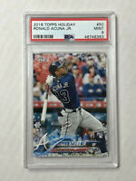 RONALD ACUNA JR 2018 Topps Holiday SNOWFLAKE SP RC! PSA MINT 9! #HW50! BRAVES!