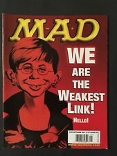 Mad Magazine September 2001 # 409 The Weakest Link