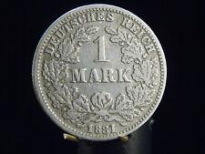 - M.F.B - Deutsches Kaiser Reich Wilhelm I  1 Mark 1881 G in ss+/++  62