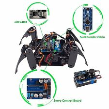 SunFounder Wireless Telecontrol Crawling Quadruped Robot Kit for Arduino DIY