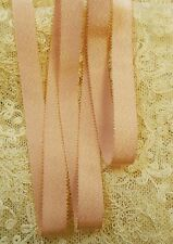 "MOKUBA 1/2"" GOLD METALLIC PICOT EDGE RIBBON -PEACH"